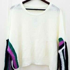 Ultra Flirt Sweater Cable Knit  Multicolor